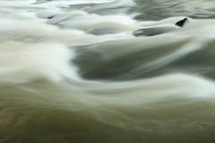 河流程波浪  免版税库存照片