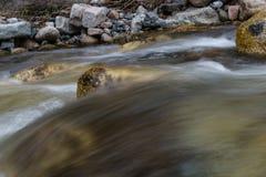 河流程的运动 库存照片