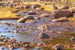 河瀑布石头 库存照片