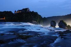 河瀑布 库存照片