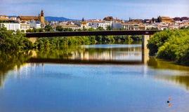 河瓜达尔基维尔河桥梁科多巴西班牙 库存照片