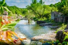 河的峡谷 免版税库存照片