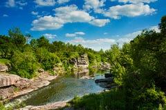 河的峡谷 库存图片