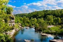 河的峡谷 免版税图库摄影