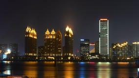 河的晚上视图 免版税库存照片