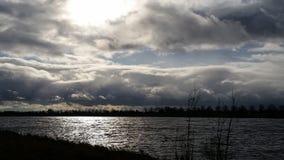 河的末端 库存图片