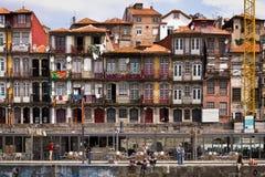 河的杜罗河,葡萄牙船坞 库存图片