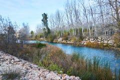 河的流程的路线 库存照片