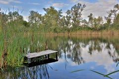 河的渔地方 免版税库存图片