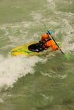 河的皮艇 贝希特斯加登 德国 免版税库存照片