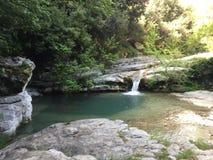 河的美好的风景 免版税图库摄影