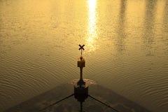 河的表面 免版税库存照片
