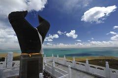 黄河的起源在中国 免版税库存图片