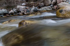 河的迅速流程 图库摄影