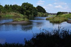 河的风景 免版税库存图片