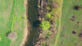 河的鸟瞰图 影视素材