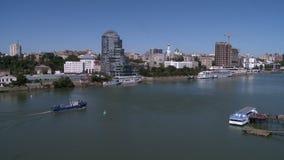河看法和建筑学在市中心 影视素材