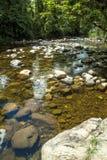 河石头在Itariri,圣保罗状态 库存图片