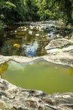 河石头在Itariri,圣保罗状态 免版税库存照片