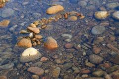 河石头-小海湾李Cossi撒丁岛 免版税库存图片