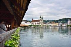 河罗伊斯统治者列表在卢赛恩,瑞士 图库摄影