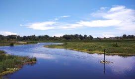 河美丽的景色  免版税库存图片