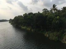 河美丽的景色 免版税图库摄影