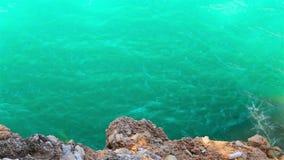 河美丽的绿色水峡谷的 影视素材