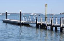 河船坞在Mandurah,西澳州 免版税库存图片