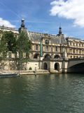河色那旅行城市巴黎 库存图片