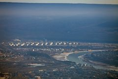 河莉娜的洪泛区在11月 图库摄影