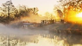 河薄雾 库存图片