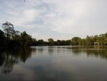 河视图在公园里 库存图片