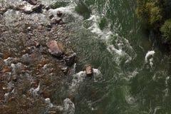 河视图从上面 库存图片