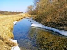 河谷在春天。 库存照片