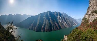 黄河谷峡谷的三峡 库存照片