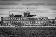 河边区大厦 免版税库存照片