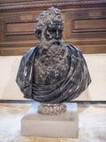 河边的神胸象,叫作亚诺河 罗马,后第16第17 库存照片