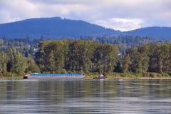 河运输活动 免版税库存图片