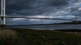 河连接英国和威尔士的Severn桥梁 影视素材