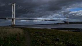 河连接英国和威尔士的Severn桥梁 股票视频