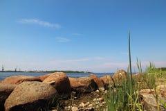 河道加瓦河的嘴 免版税图库摄影
