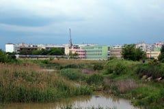 河镇 库存照片