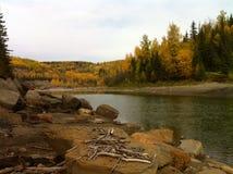 河风景不列颠哥伦比亚省加拿大 免版税库存照片
