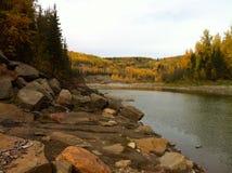 河风景不列颠哥伦比亚省加拿大 图库摄影