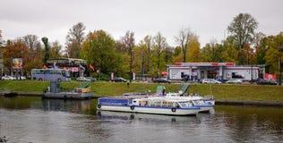 河风景在圣彼得堡,俄罗斯 库存图片