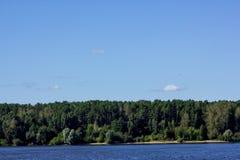 河风景夏天 库存照片