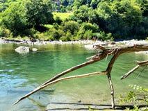 河风景Mugello佛罗伦萨菲伦佐拉Santerno 免版税库存图片