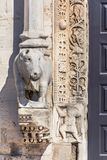 河马雕塑在巴里 库存图片