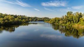 河鲁尔的河岸在Muelheim,德国附近的 免版税库存照片